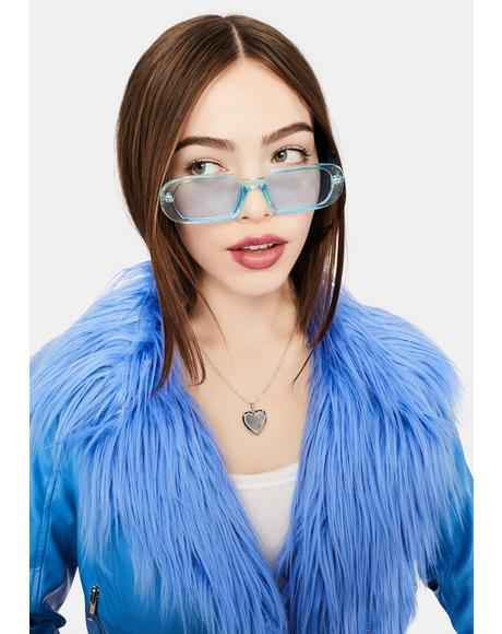 Icy Edge Of Seventeen Rectangle Sunglasses