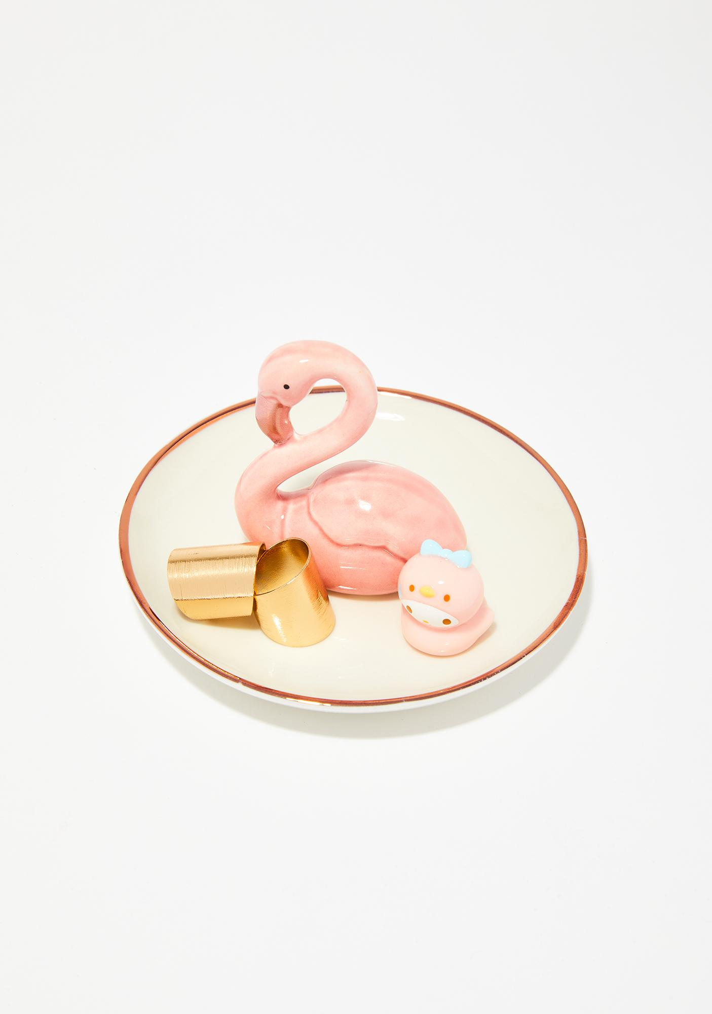 Flamingo Funk Trinket Tray