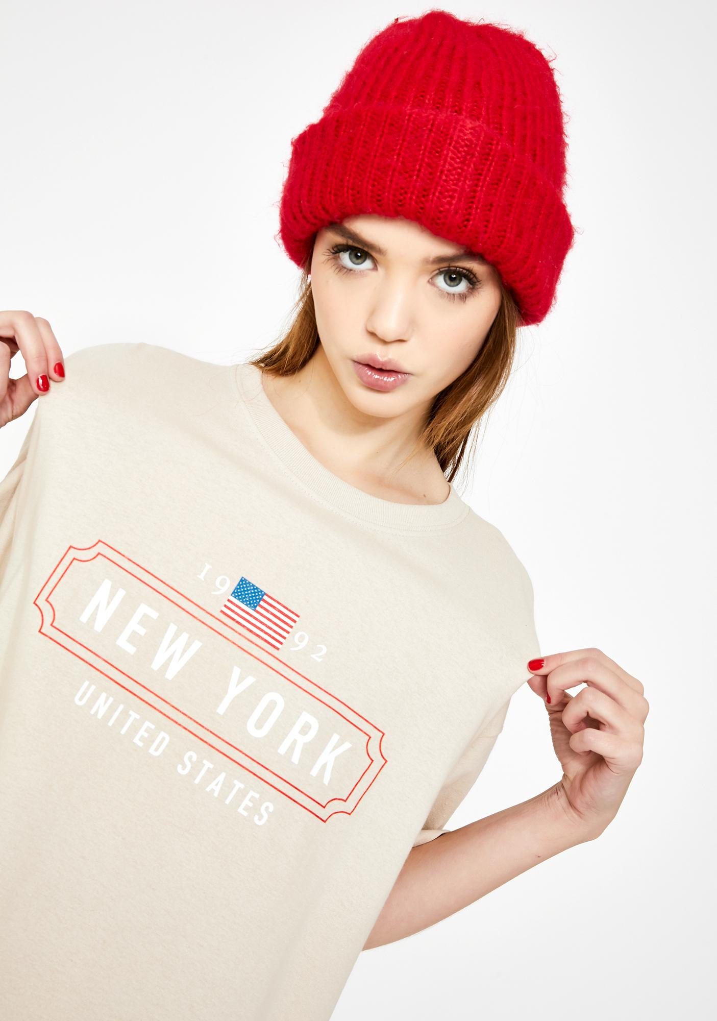 Daisy Street New York Graphic Boyfriend Tee