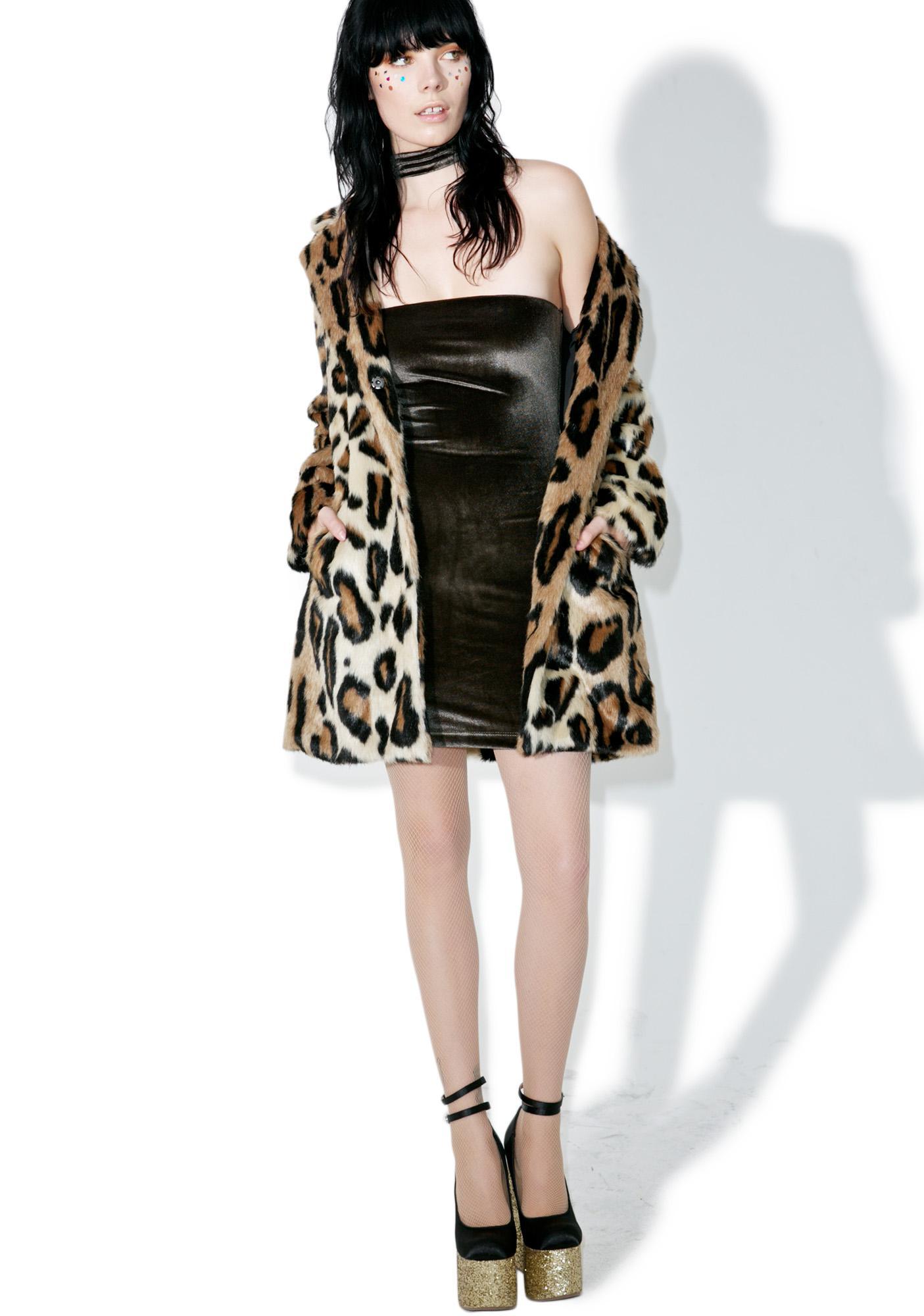 Velvet Body Talk Mini Dress