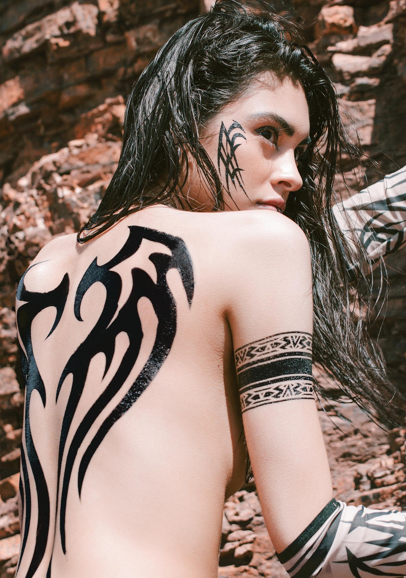 Fallen Angel Back Tattoo