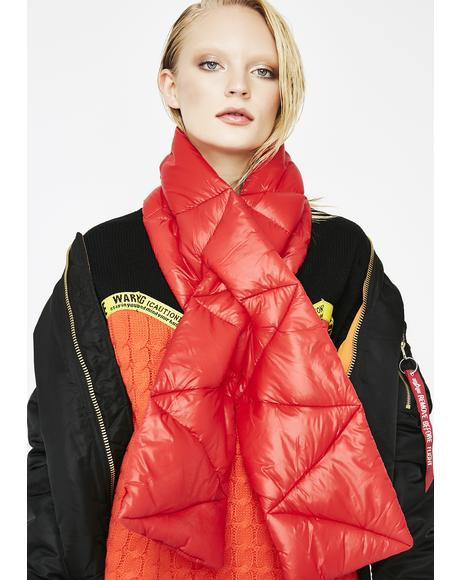 Chill Factor Puffer Scarf