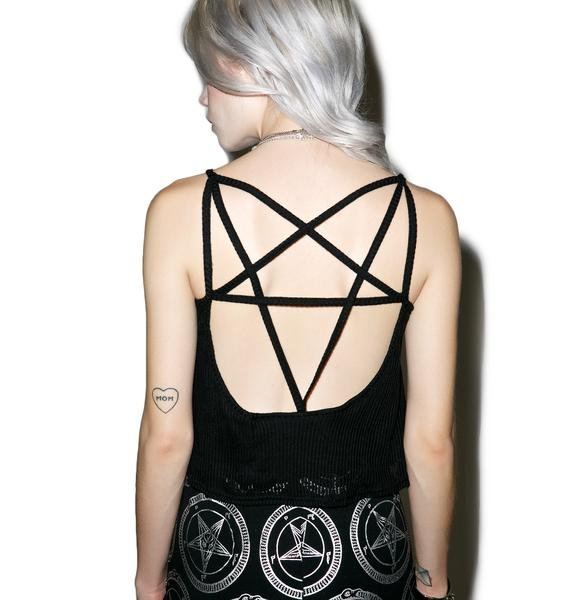 Killstar Dome Play Bite The Dust Crop Top