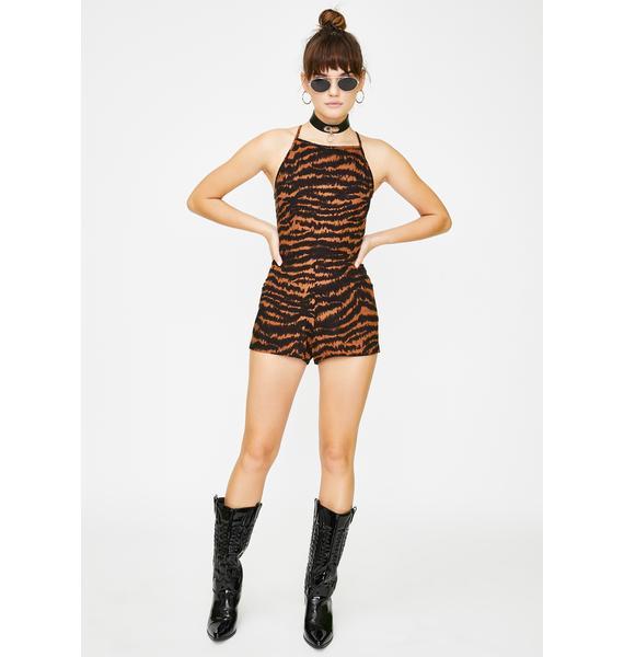Motel Brown Leopard Ophelia Romper
