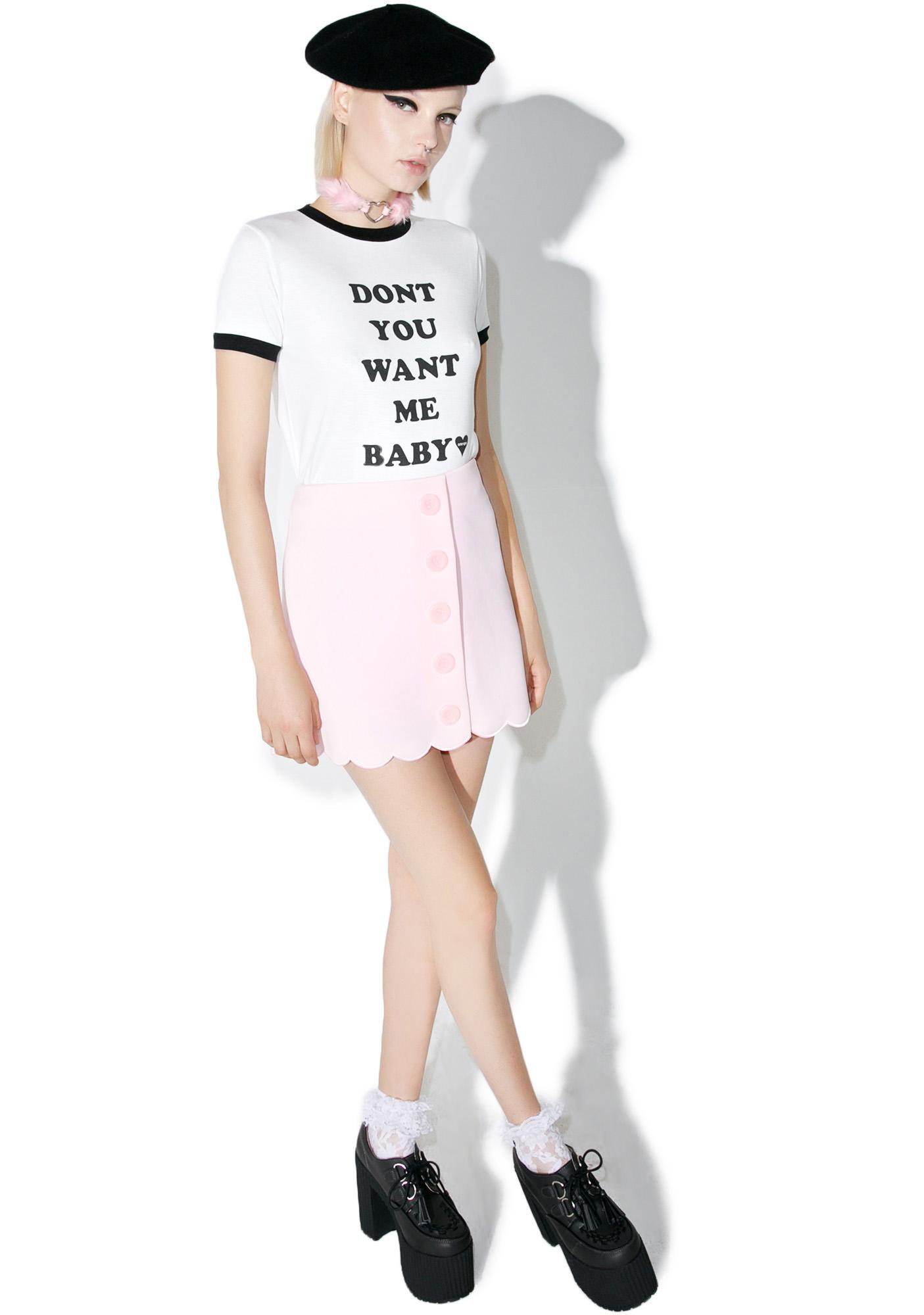 one spo Message Crop Tee