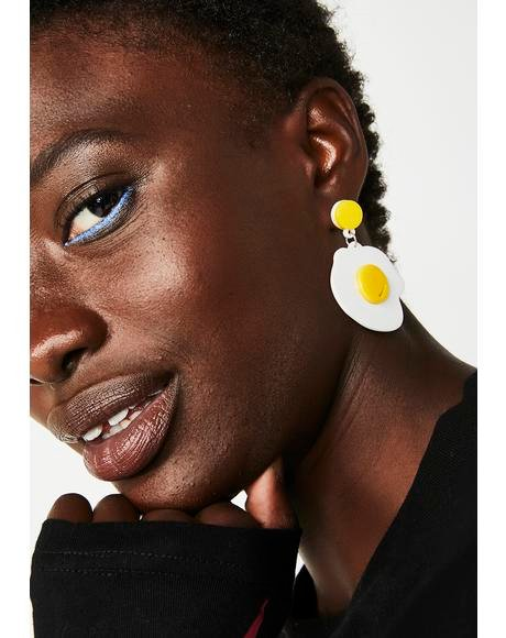 Sunny Side Egg Earrings