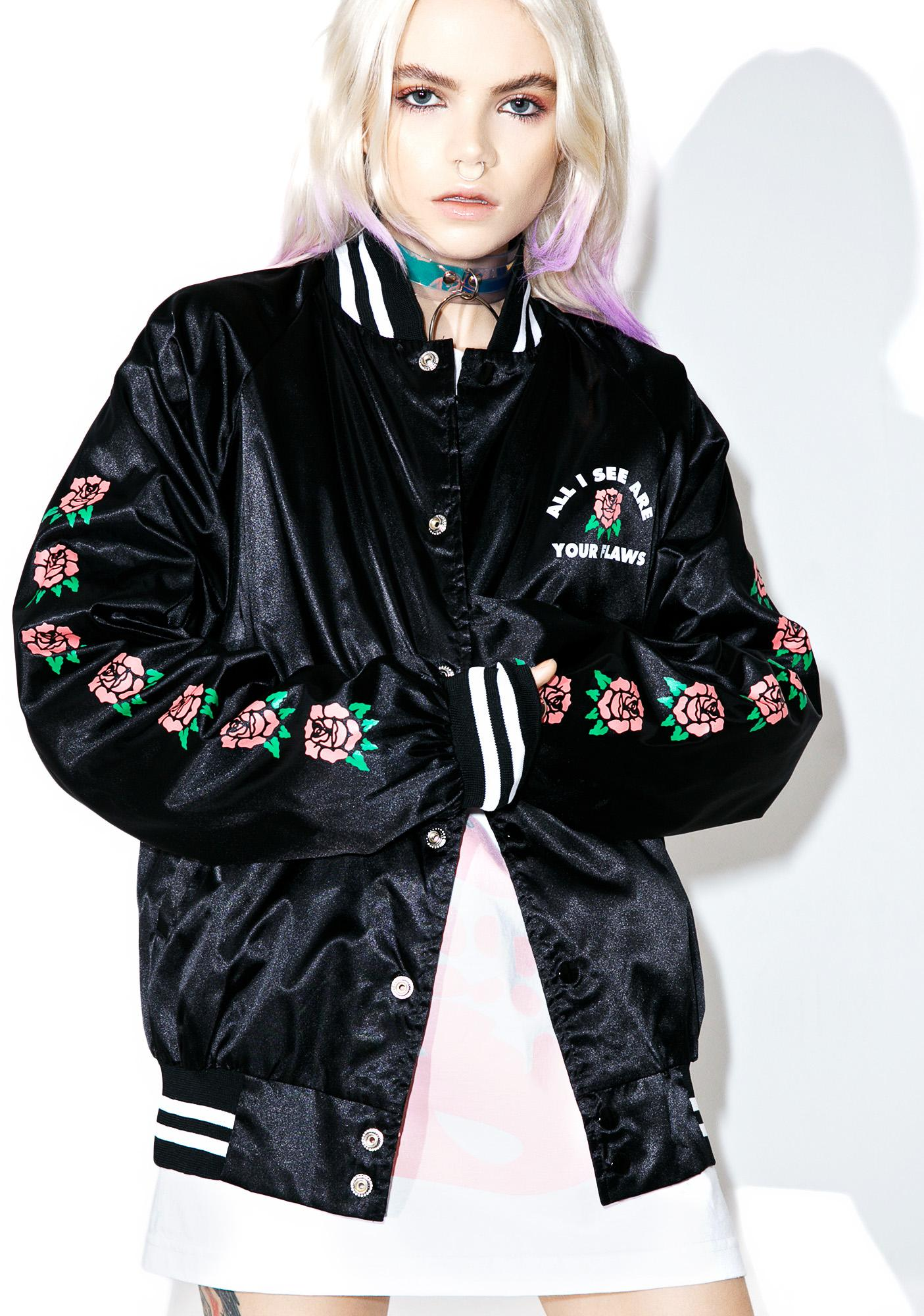 Flying Coffin Flaws Satin Jacket
