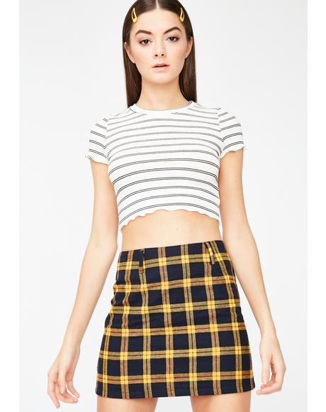 Golden Schoolgirl Coven Plaid Skirt