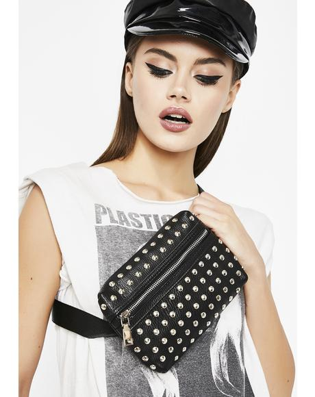 Metal Head Babe Studded Fanny Pack