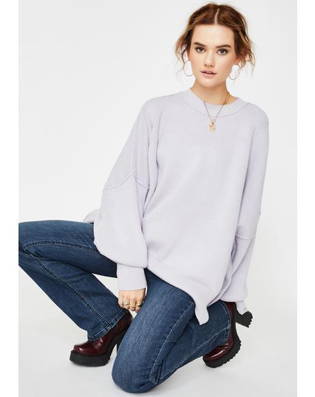 Lavender Easy Street Oversize Tunic