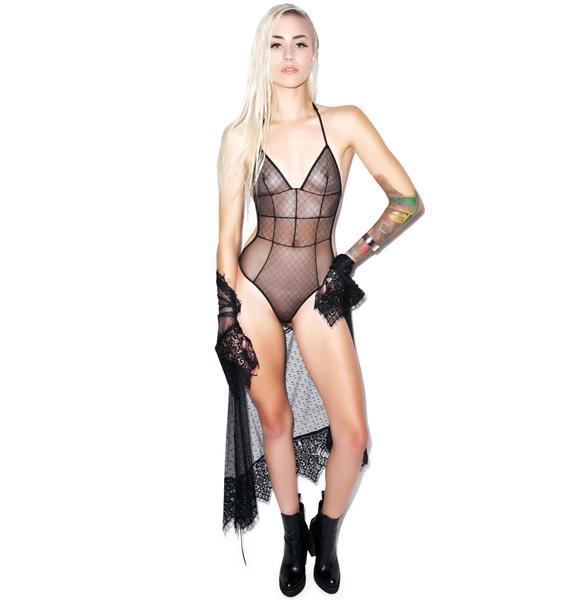 Love Haus Sheer Sexy Bodysuit