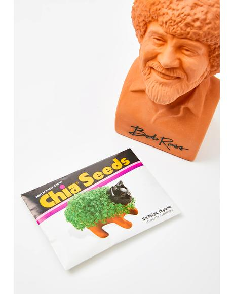 Chia Pet Bob Ross Planter
