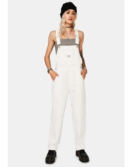 White Lie Vintage Denim Overalls