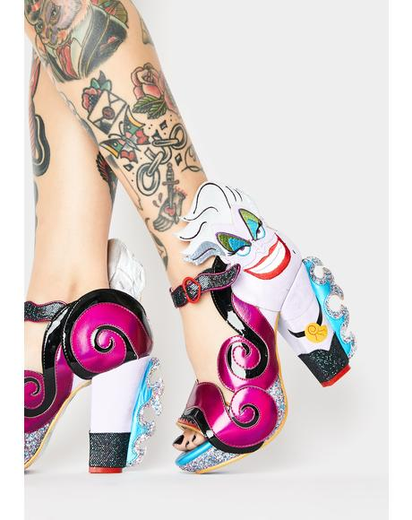Elegant Evil Ursula Peep Toe Heels