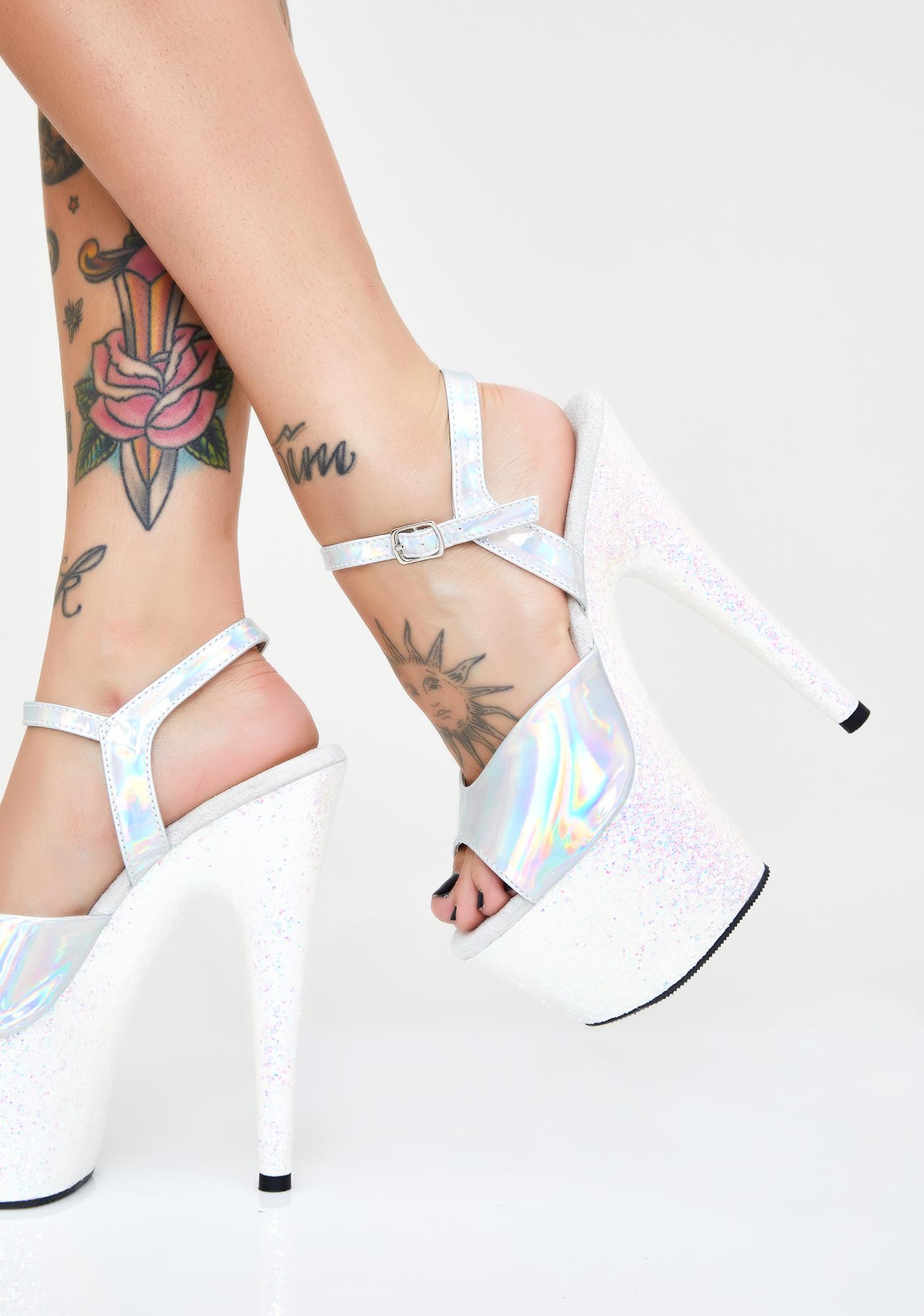 Pleaser Glitter Glare Platform Heels
