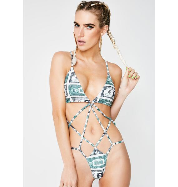 Poster Grl Money Moves One Piece Swimsuit