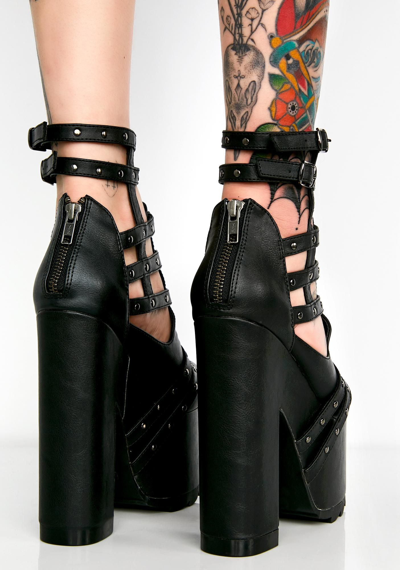 Demonia High Treason Platform Heels