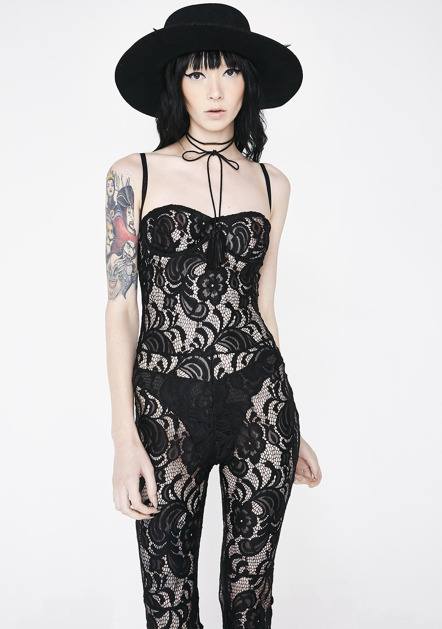 Matte Siren Lace Full Bodysuit