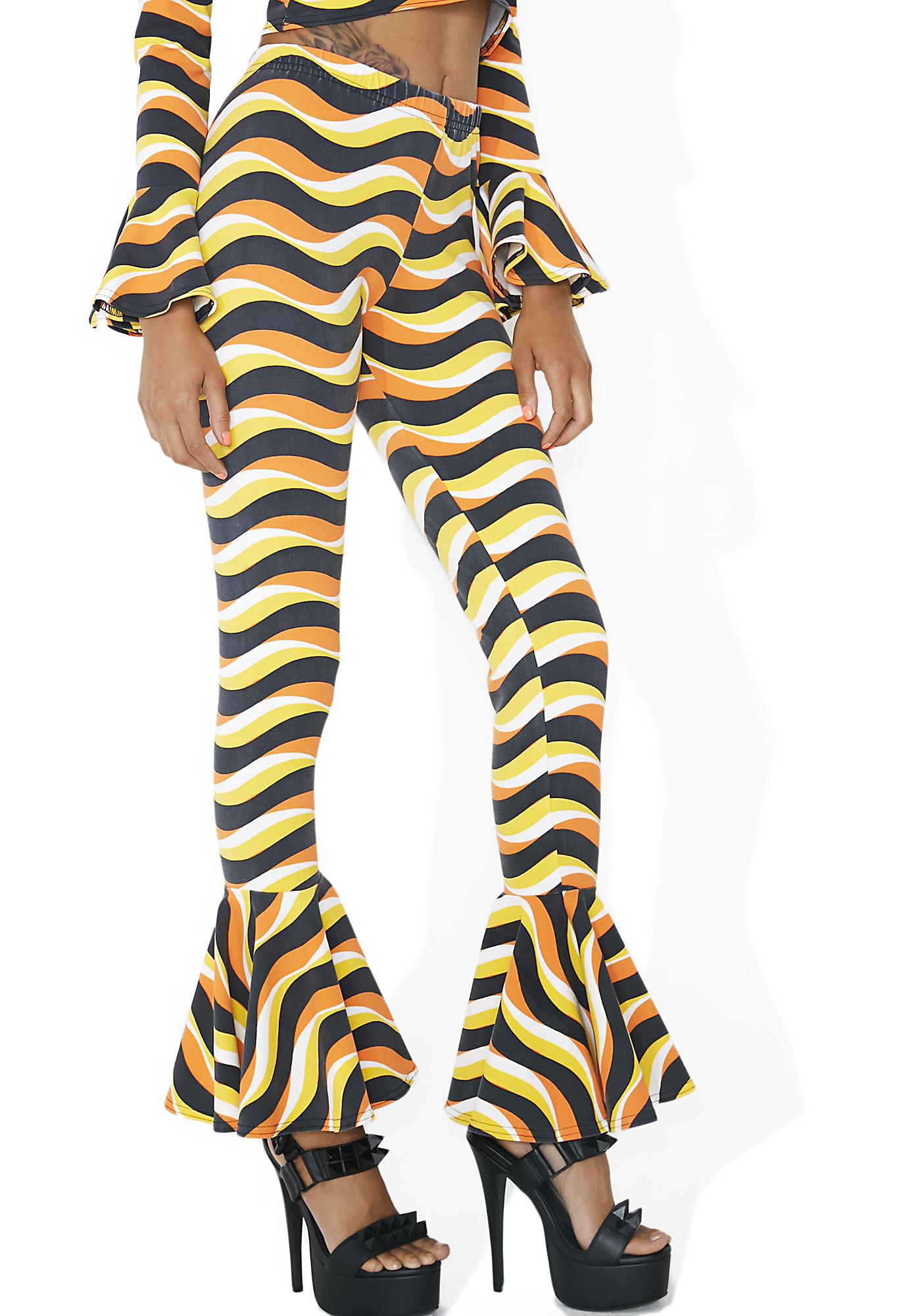 Wavy Mod Ruffle Pants