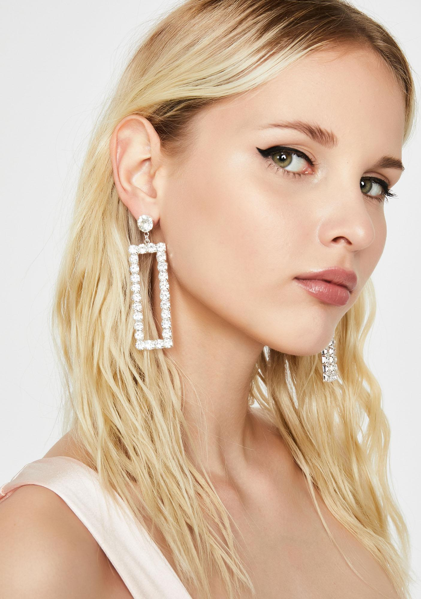 Angelic Angles Rhinestone Earrings