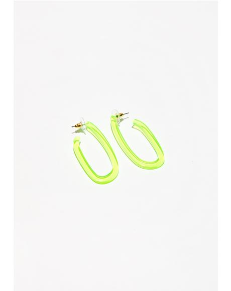 Sunny Feel The Beat Oval Earrings