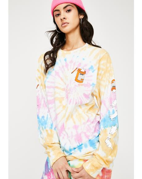 Nermal Pills Tie Dye Long Sleeve Tee