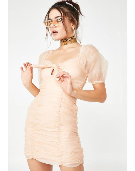 Blushing Moments Ruched Dress
