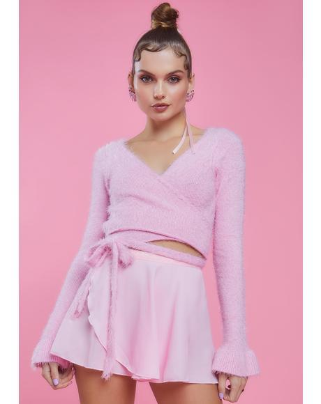 Buns N' Bows Wrap Mini Skirt