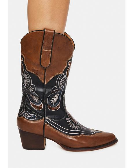Brown Whiskey On The Rocks Cowboy Boots