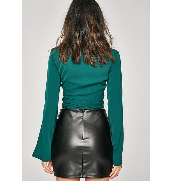 Emerald Cropped Blouse