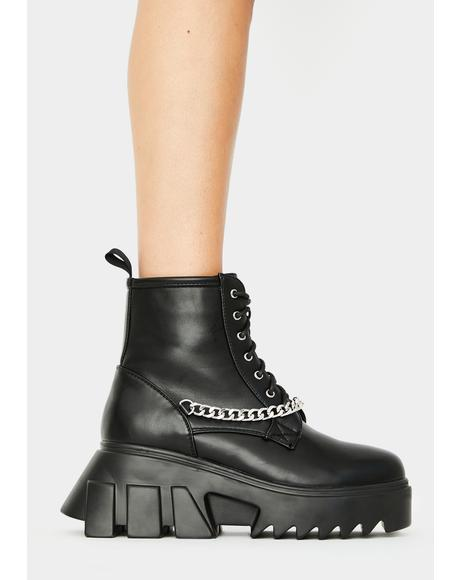 Chain Facin' Facts Ankle Boots