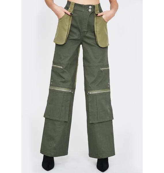 I AM GIA Khaki Blaze Cargo Pants