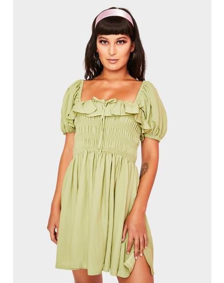Sage Feeling Good Babydoll Dress