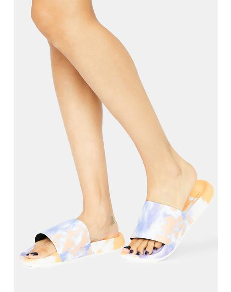 Fig Cloudless Sky Tie Dye Slides
