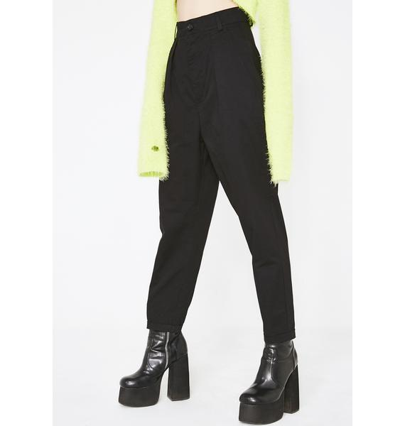 Lazy Oaf LO Black Peggy Trousers
