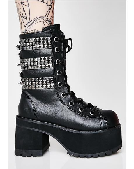Rage Slayer Platform Boots