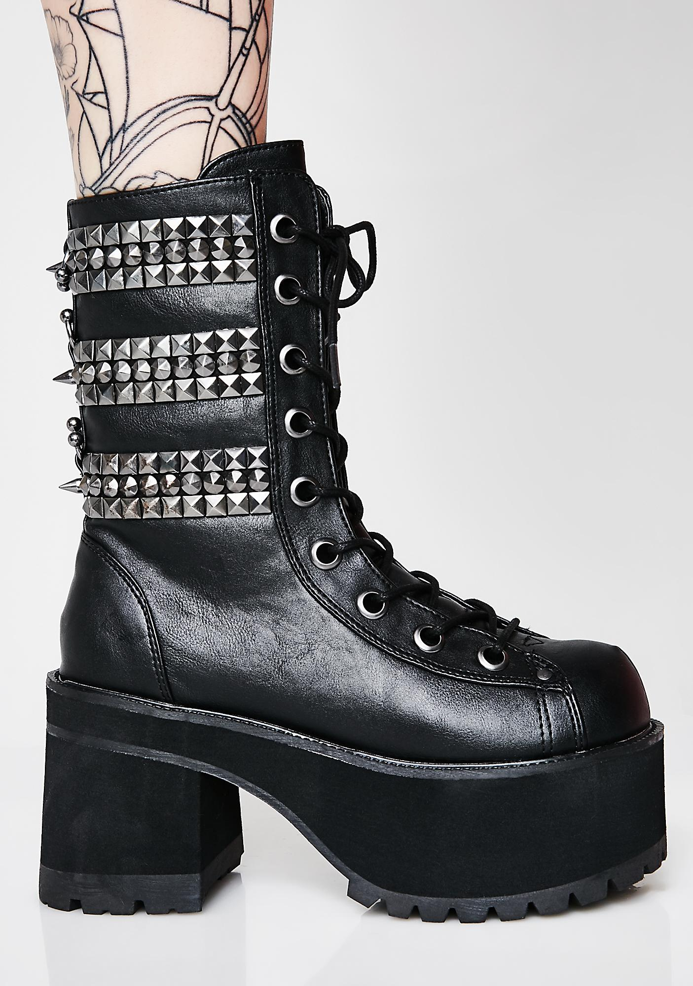 Demonia Rage Slayer Platform Boots