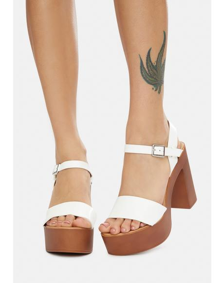 Bliss Push N Pull Platform Sandals