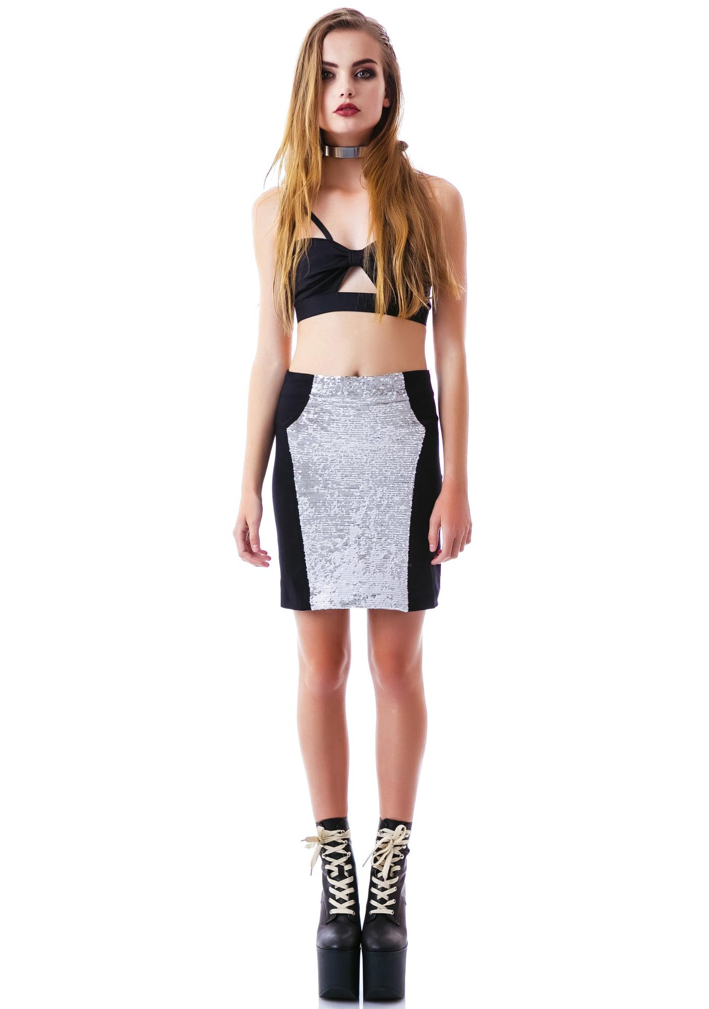 Yonce Sequin Skirt