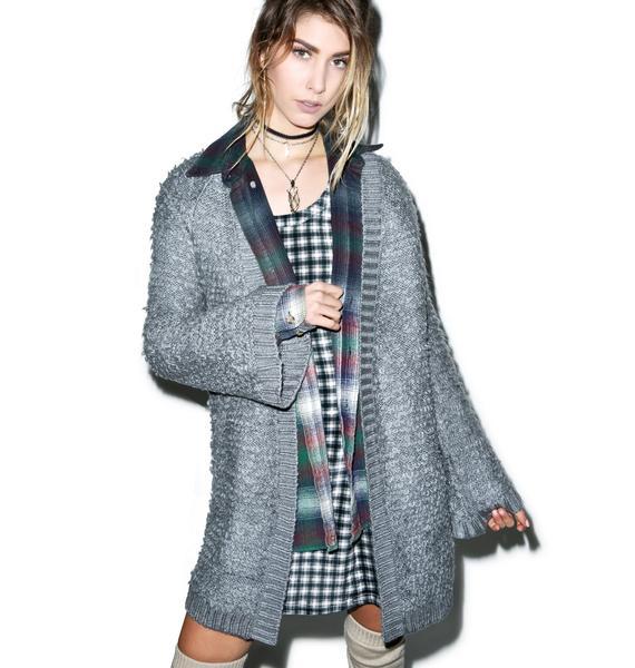 Somedays Lovin Turntable Fluffy Knit Kimono