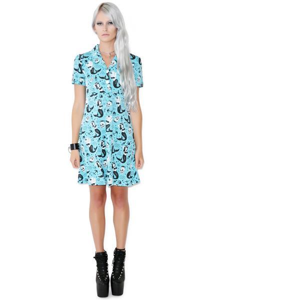 Sourpuss Clothing Rosie Mermaid Dress