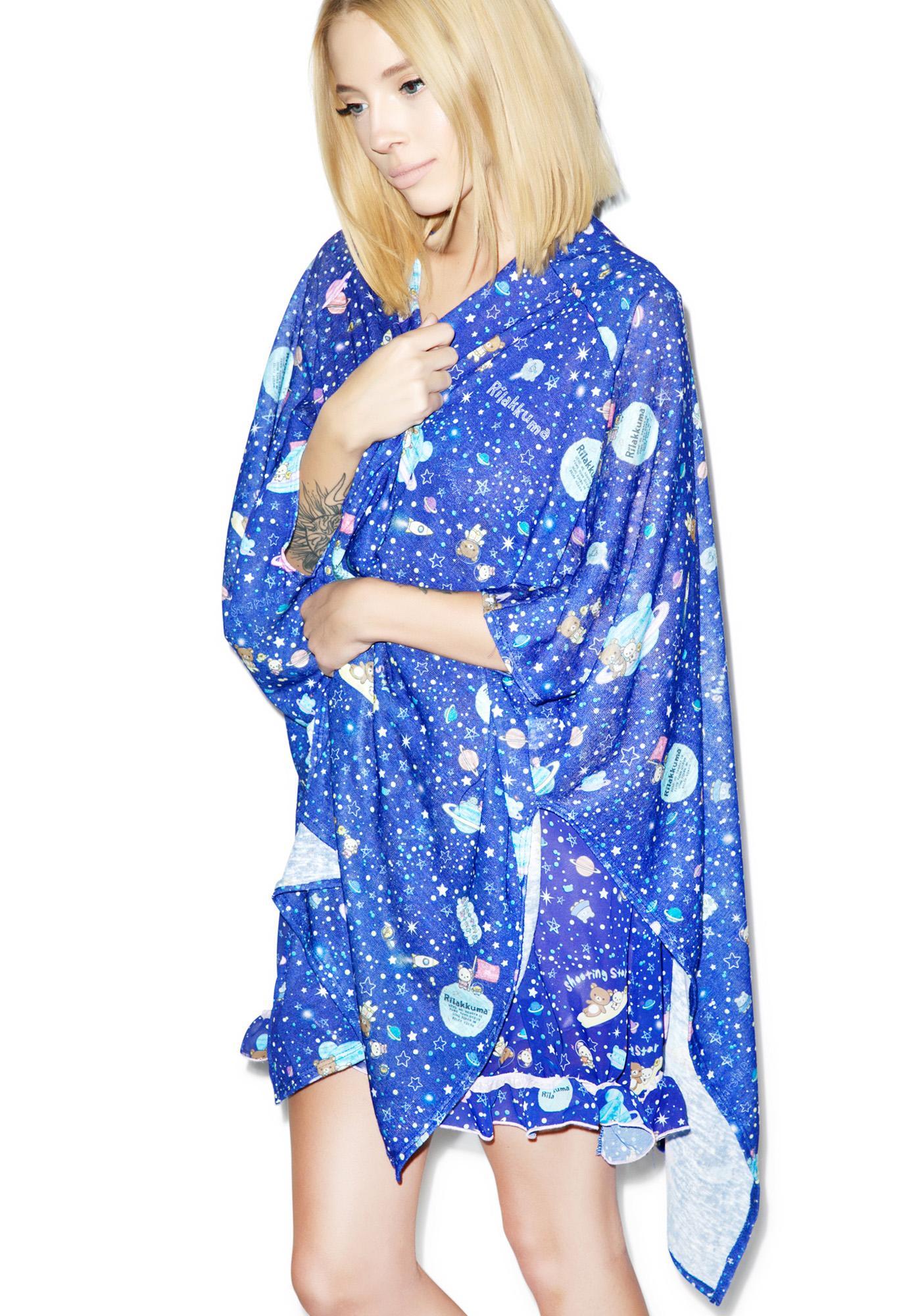 Japan L.A. Rilakkuma In Spaaace! Kimono