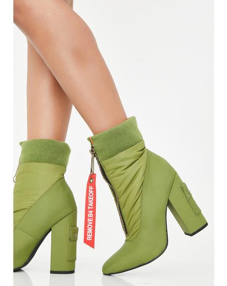 Catching Flights Heeled Boots
