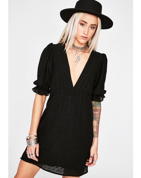 Noir Happy Go Lucky Mini Dress