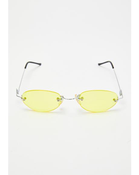 Pure Sunshine Clear Sunglasses