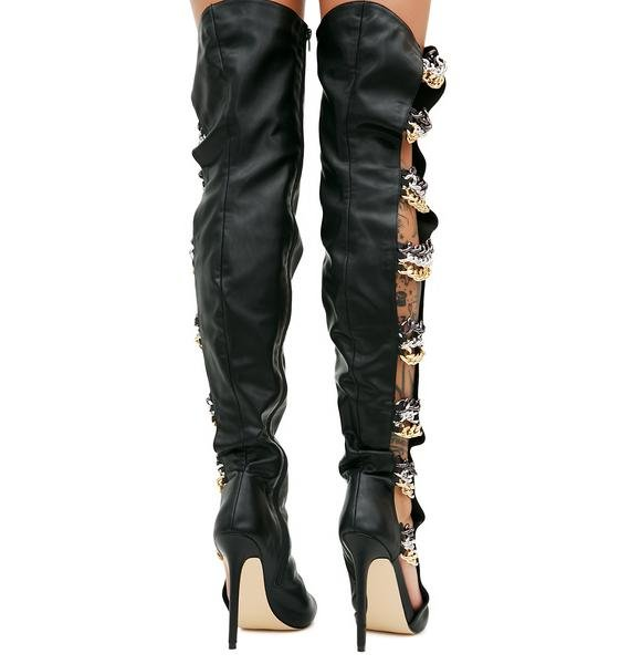 Privileged Roux Tall Boot With Chains