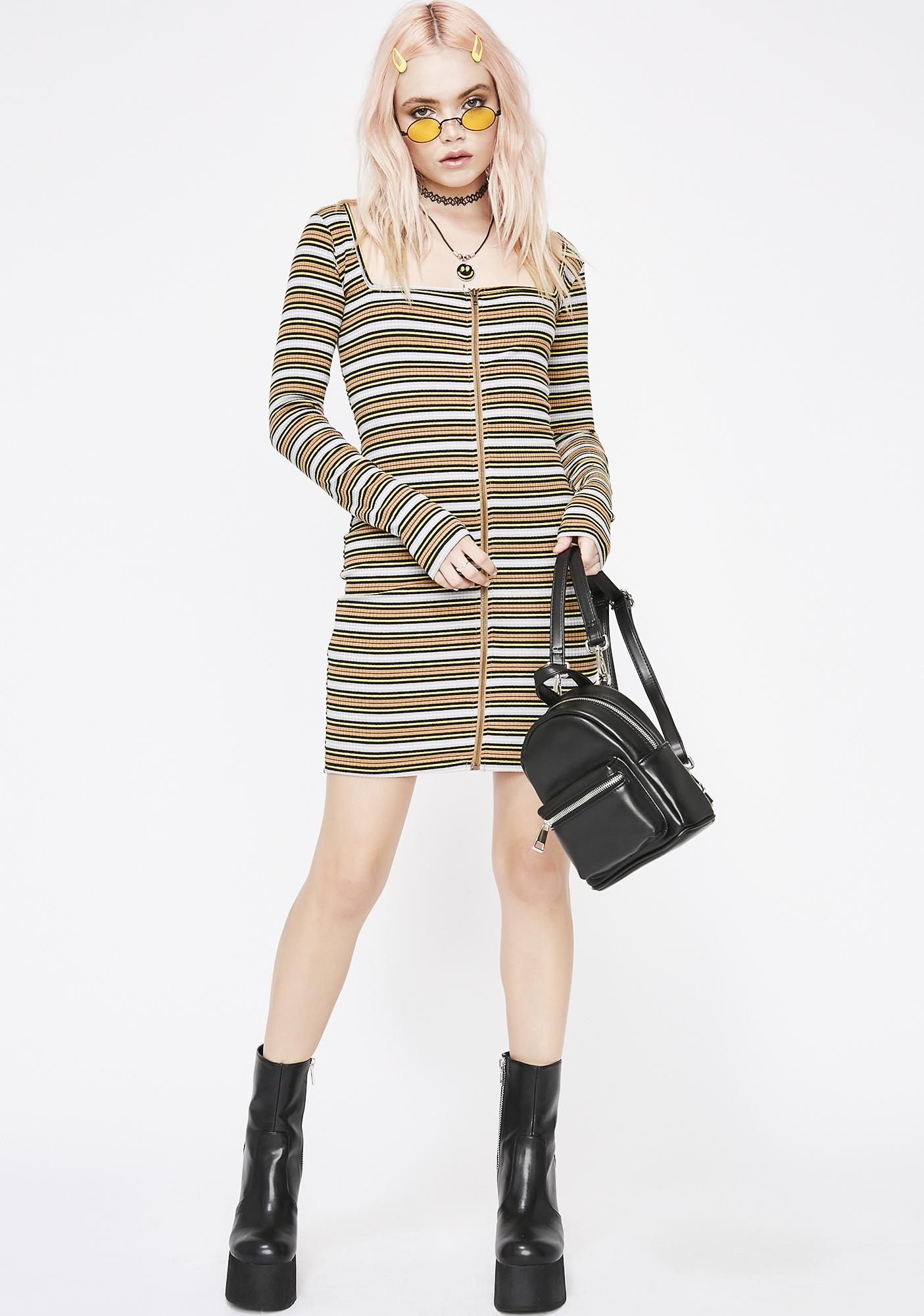 Mellow Body Language Mini Dress