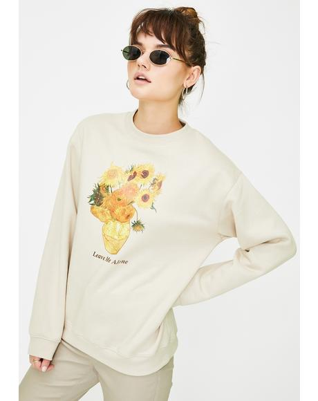 Van Gogh Sunflowers Graphic Sweater