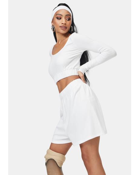Robyn Rib Knit Lounge Shorts