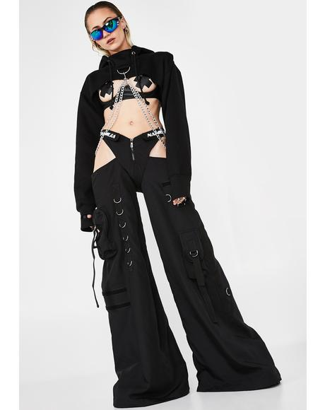 Black Rave Panty Trousers